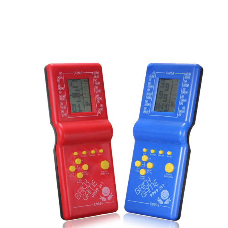 Classic Tetris Brick Game Handheld Mini Game Machine Tamagochi Toys Electronic Interactive Toys For Kids Color Random