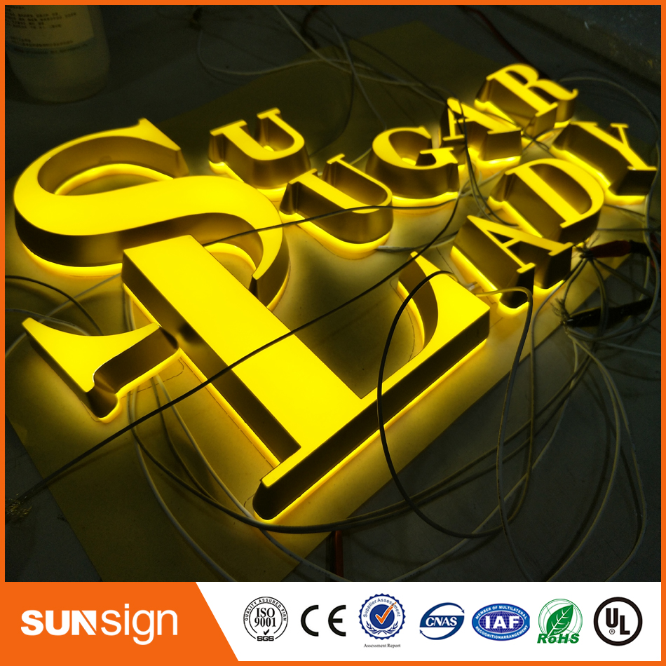 3D Lighting Acrylic Mini LED Channel Letter Sign / Frame Metal Letter Signs