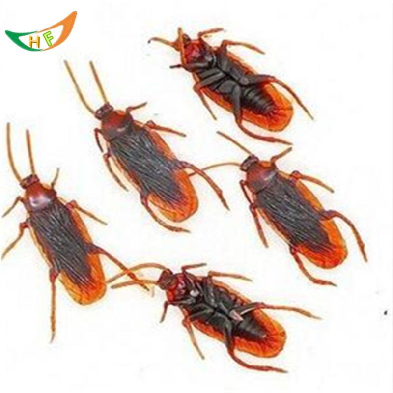 Prank supplies toy spoofing cockroaches scary girl shocker April fool's toys false cockroaches novelty toys