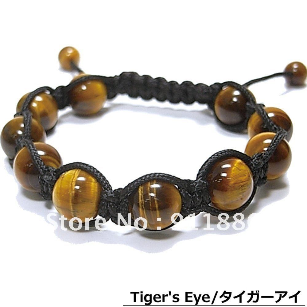 Best Selling,fashion Men's Shamballa Bracelet Arrival! Charm Tigereye Beads  Bracelet,as A