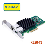 10Gtek for X550 T2, 10GbE Converged Network Adapter(CNA/NIC), Copper Dual RJ45 Port Compatible to Intel X550 T2