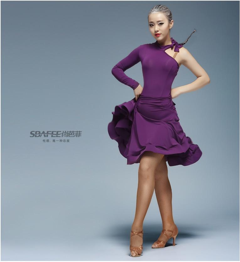 Latinské taneční šaty Ženy Sexy taneční tango Latinské košile Sukně danskleding franjas roupas tanzrock latein Wear Costumes for Girl