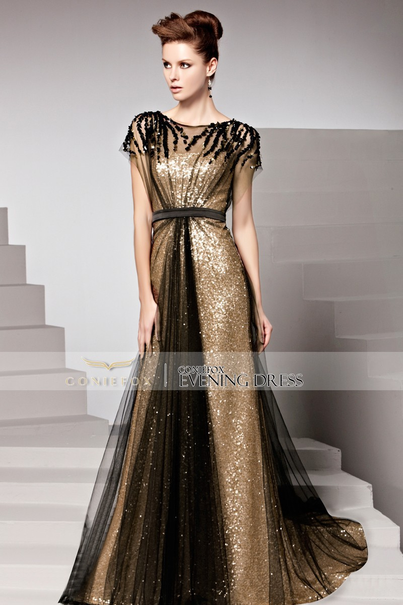 Coniefox Fabulous Long Court Train Special Occasion Prom Dresses ...