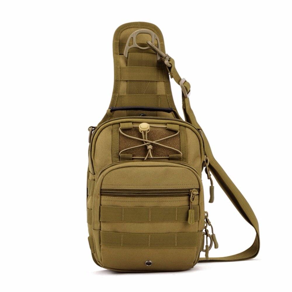 Prix pour En plein air Hommes Nylon 1000D Tactique Militaire Voyage Randonnée Messenger Sling Pack Poitrine Sac