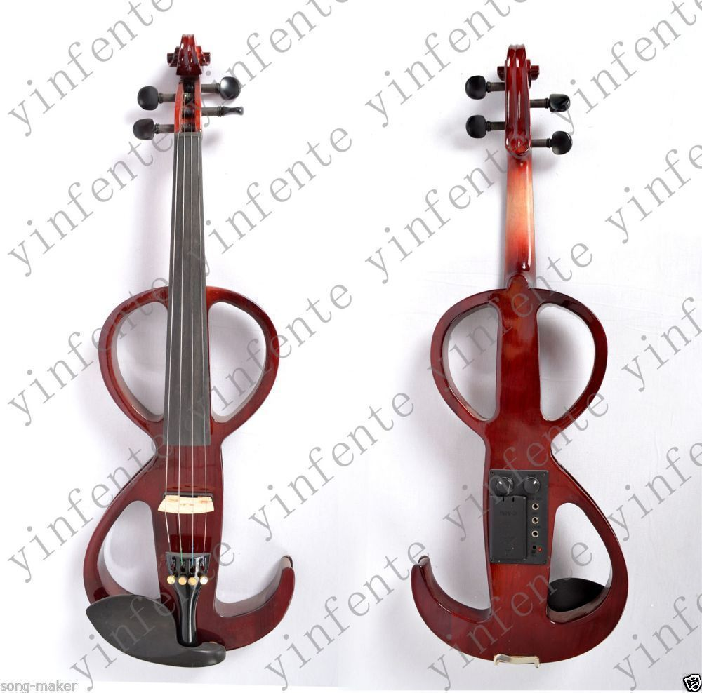 Violin Electric violin Nice Sound silent Yinfente Solid wood 4/4 New #11 4 4 electric violin infinite brand paten pick up nice
