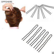 50PCS Lot 6CM Hair Bobby Pin Barrette Salon Women Lady Girl U Shape Rhinestone Hair Clips Updo Tool Hairpins New 6mm