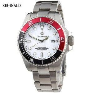 Image 5 - Man Watch 2019 Top Brand Reginald Watch Men Sports Watches Rotatable Bezel GMT Sapphire Glass Date Stainless Steel Watch Gifts