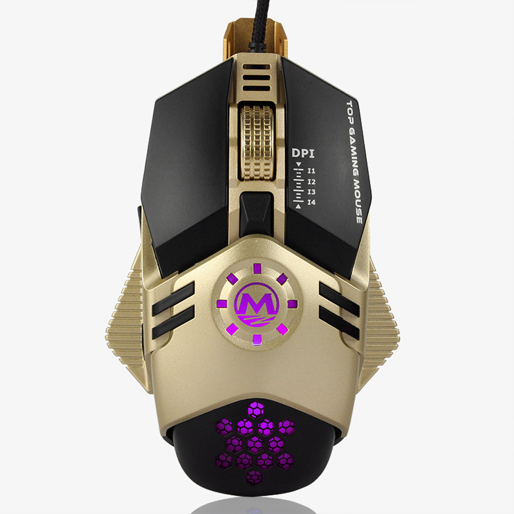 VOBERRY USB Wired Mouse Professional 4800DPI 6Button Mechanical LED Optical Wired Mouse Ergonomic Game Mice For PC Gaming Laptop