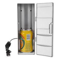 100% Brand Portable Mini USB PC Laptop Fridge Cooler PC Refrigerator Warmer Cooler Beverage Drink Cans Freezer Beer Cooler