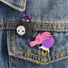 Set Crystal Punk Enamel Pins