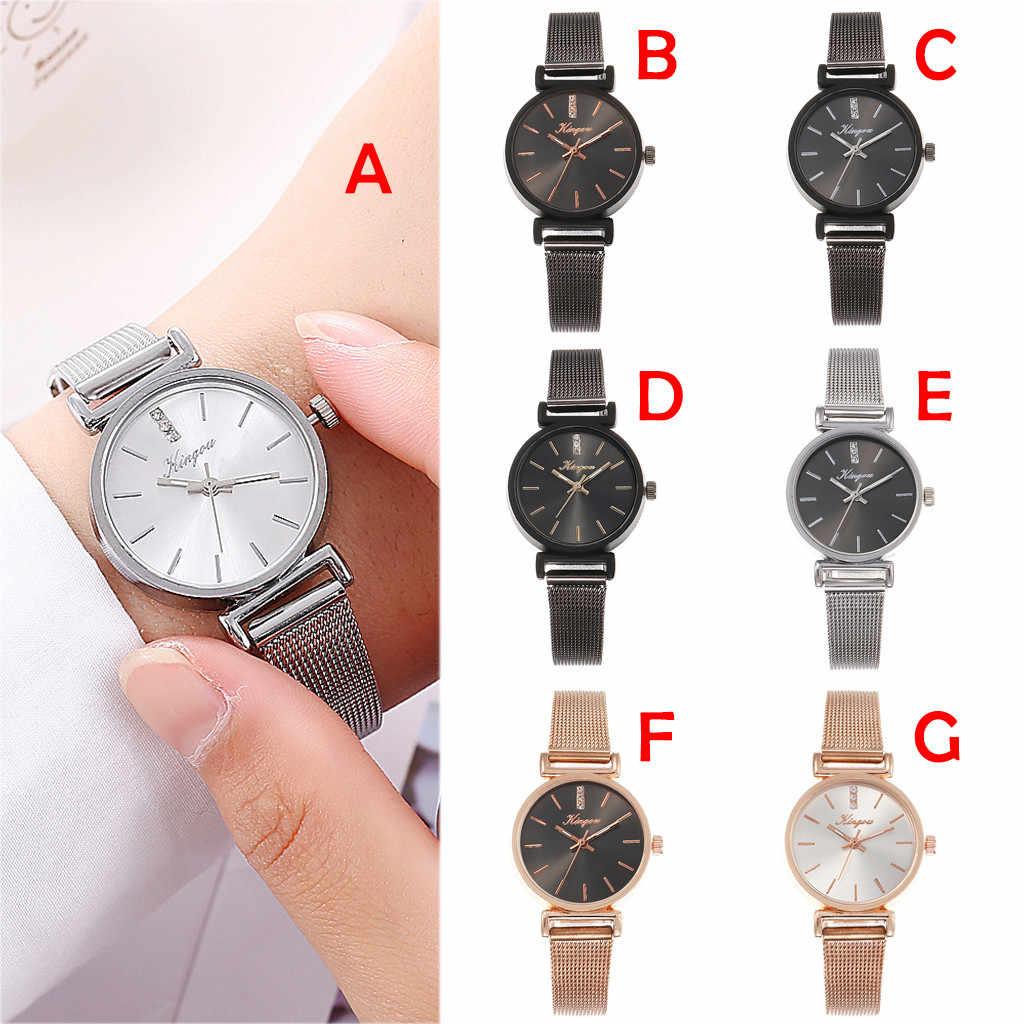 2019 New Luxury Watch Women Alloy Mesh Belt Casual Watches Simple Zegarek Damski Quartz Wristwatch Reloj Mujer saat Montre Femme
