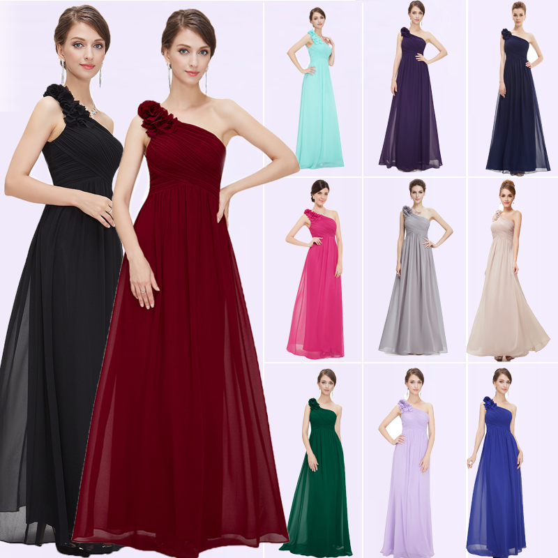 Ever Pretty Women Elegant Sexy Grey Bridesmaid Dresses Chiffon A-Line Purple Long Party Formal Dress For Wedding Guest Dresses