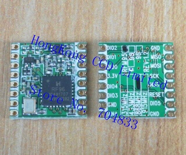 free shipping 2pcs/lot RFM95 20dBm 100mW 868Mhz 915Mhz DSSS spread spectrum wireless transceiver module