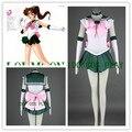 9 Members Sailor Moon Cosplay Costumes Jupiter / Kino Makoto Women Fancy Uniforms Mercury / Chibi Usa / Hino Rei Dress