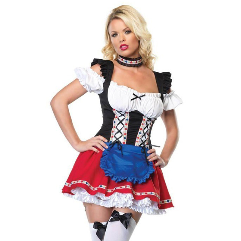 Costumes Special Offer Time-limited Adult Carnival Costume Halloween free Shipping 2017 Sexy Strapless Fashion Small Cosplay Set