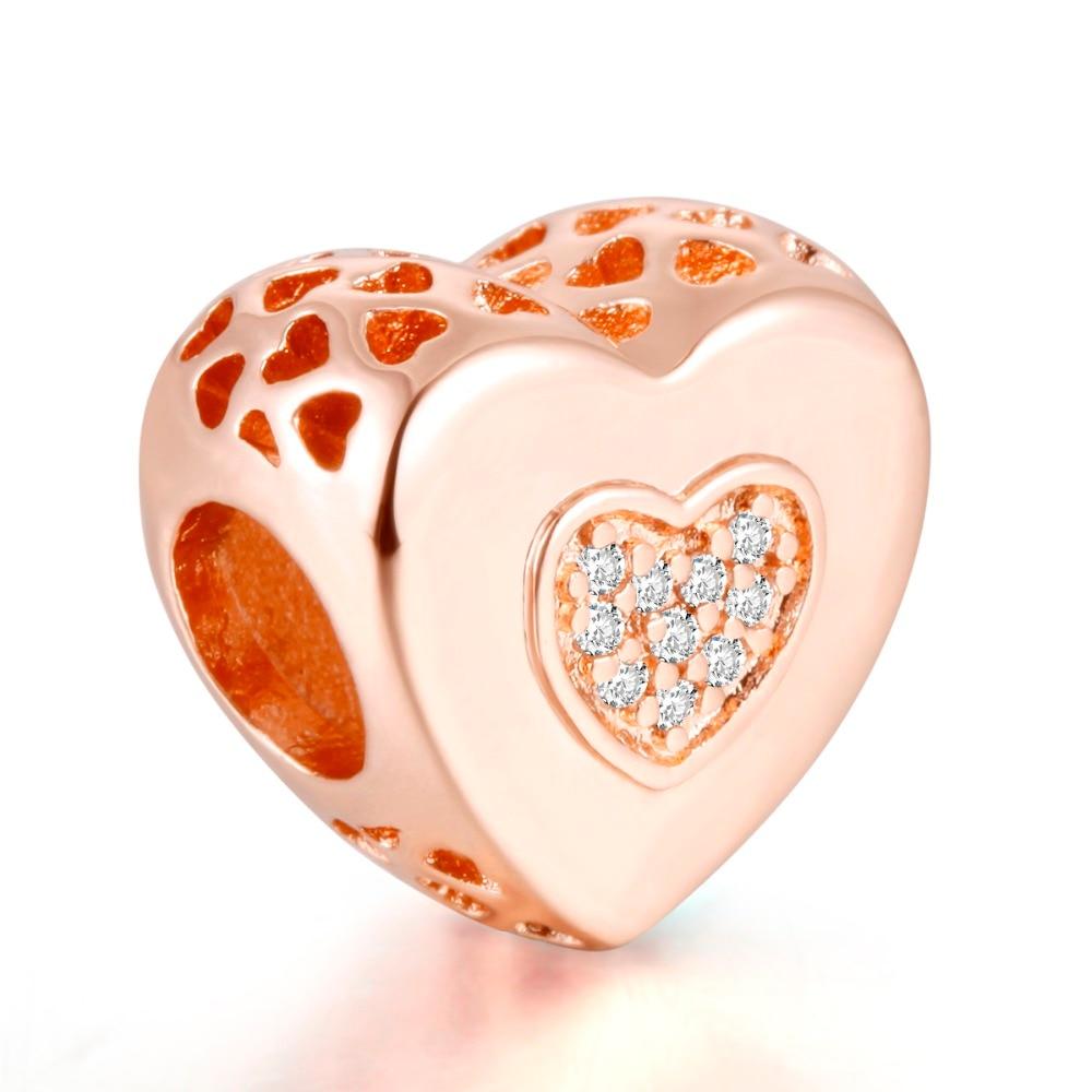 Pandulaso Rose Gold Signature Heart Charm Fit