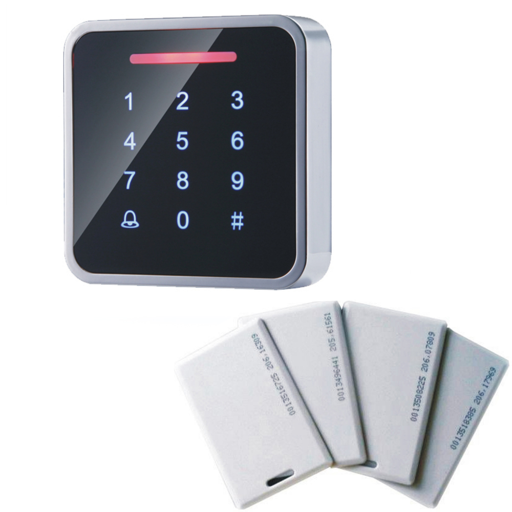 Newest design Metal case M5 Touch keys 125KHZ RFID +password access control system / free send 10pcs cards