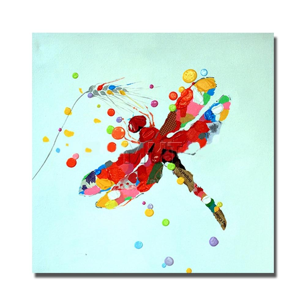Online kopen wholesale dragonfly schilderijen uit china dragonfly ...
