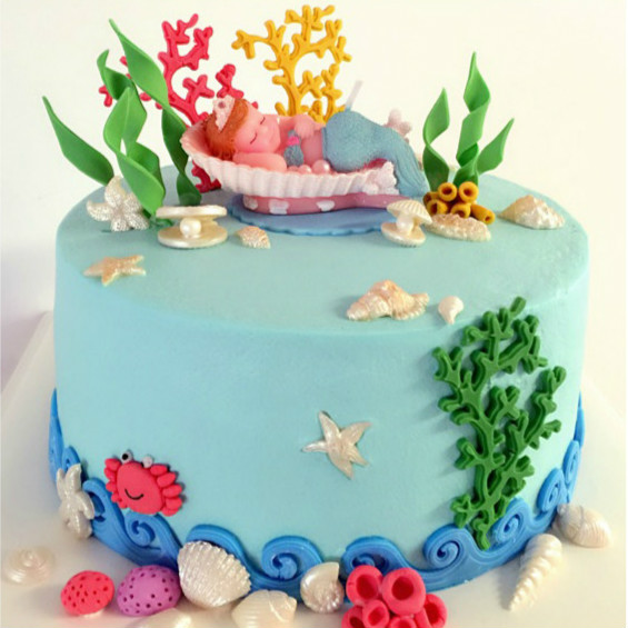 Mermaid Scented Birthday Candle Creative Baking Cake Decorating Tail Corals Insert Decorations Flag For Kids In Candles From Home Garden