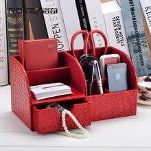 Rocky red crocodile desk office desktop storage box storage creative modern multi-functional stationery