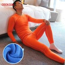 COCKCON Cotton Underwear Underwear Winter Mens Warm Thermal Underwear Add wool Long Johns Thermal Underwear Sets Thick Plus