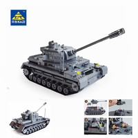 Kazi Large Panzer IV Tank 1193pcs Building Blocks Military Army Constructor Set Educational Toys For Children