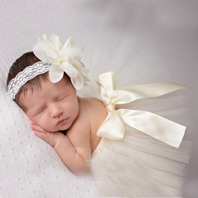 New newborn photography props hot sale baby girls fashion costume outfit princess tutu skirt matching headband
