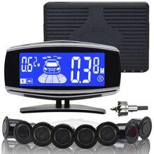 Vancago vue Arrière de Voiture Parking Radar Dual core Double Écran lcd Parking Par Kit D'alarme avec 4/6/8 Capteurs
