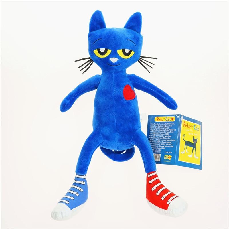 35cm Story Book Pete the Cat Blue Plush Doll New Stuffed Animals & Plush Children Toys Cat Stuffed Dolls