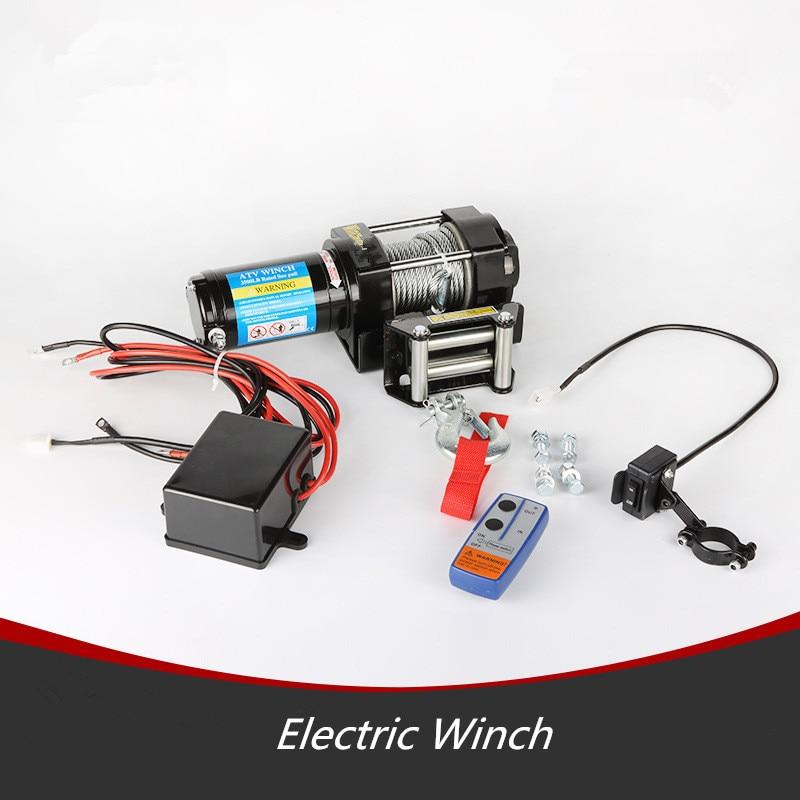 ATV/UTV 12V/24V DC Electric 4x4 5000LB Winch with Wireless Remote Kit 3500lb winch electric winch 12v 4x4 utv atv winch free shipping