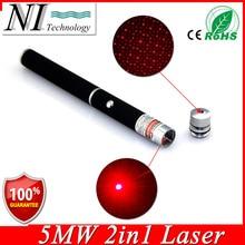 2en1 de alta Potencia de Gran Alcance Rojo Lápiz Puntero Láser Puntero Láser 5 mw Caneta Laser Rojo Violeta Lazer Verde Con Tapa de Estrellas alta calidad