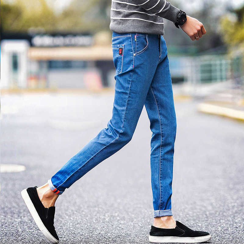 Men 's Jeans Men' S Trousers Leisure Autumn Winter Section Of The Trend Of The New Quarter Of The New Elastic Cowboy Men