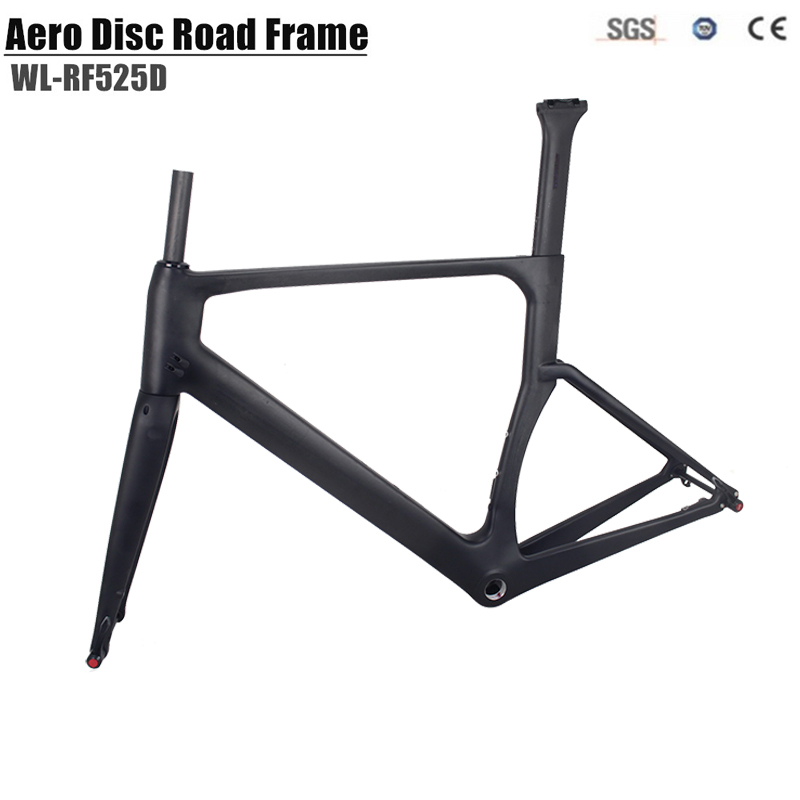 2018 winow Aero Disc brake Carbon Road Bike Frame UD Black Aero Full Carbon Road Bicycle Frame 142*12mm Thru Axle Frameset 2017 flat mount disc carbon road frames carbon frameset bb86 bsa frame thru axle front and rear dual purpose carbon frame