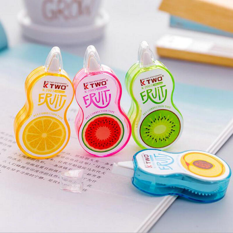 1 Piece Kawaii Cartoon Fruit Students Correction Tape Children Diary Decorative School Office Stationery