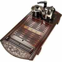Drawer type wooden water storage tea set complete set of solid wood water drainage tea tray bamboo tea tray