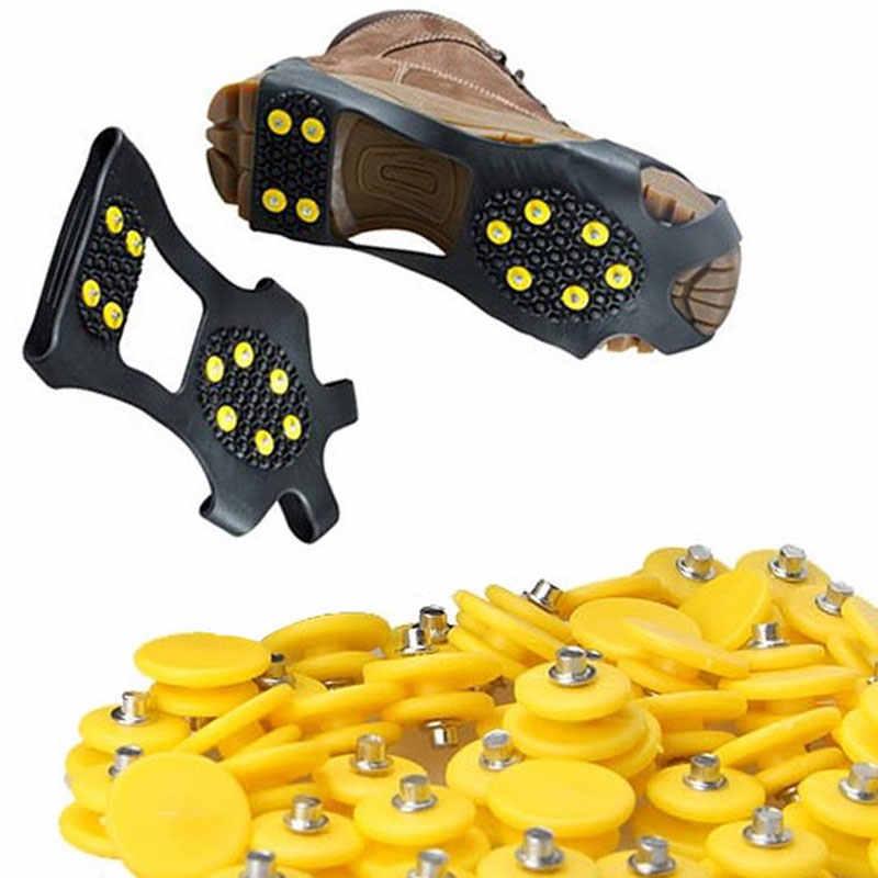 1 шт. прочные нескользящие зимние льда тяги шипы для подъема шиповки чехол удобный бутсы обувь с шипами