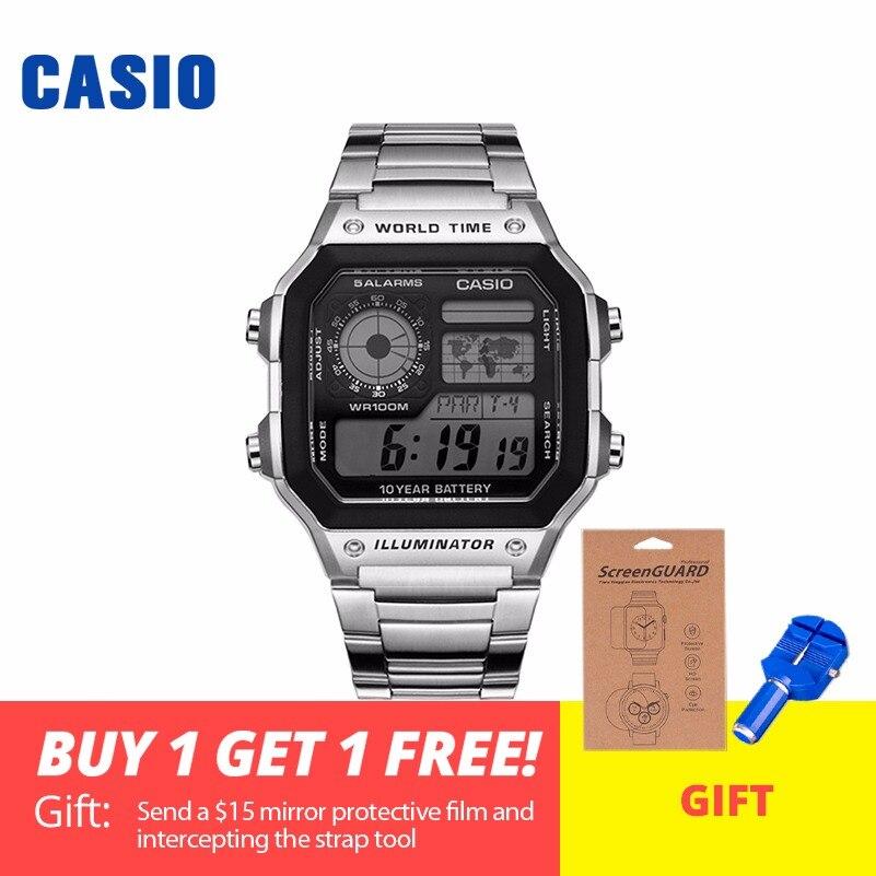 Часы Casio Analogue Мужские кварцевые спортивные часы сочетают в себе модные и классические часы AE-1200