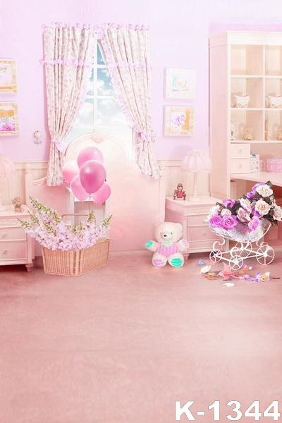 Pink Romance Small Room Baby Living Room Vinyl Cloth Photography Backgrounds 5x7ft Digital Fabric Backdrops For Photo Studio