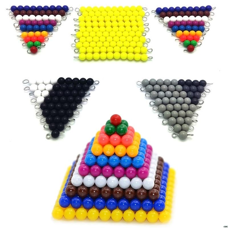 Montessori math materials grânulo jogo para pré-escolar