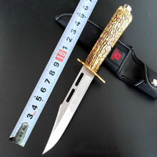 2016 NEW Elk Ridge  Survival Fixed Knives,440 Blade Bone Handle Sanding Outdoor Hunting Knife