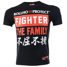 VSZAP Fighter The Family MMA Men T-Shirt Print Sanda Fitness Tee Shirt Homme Sporting UFC Fighting Muay Thai Brand Clothing