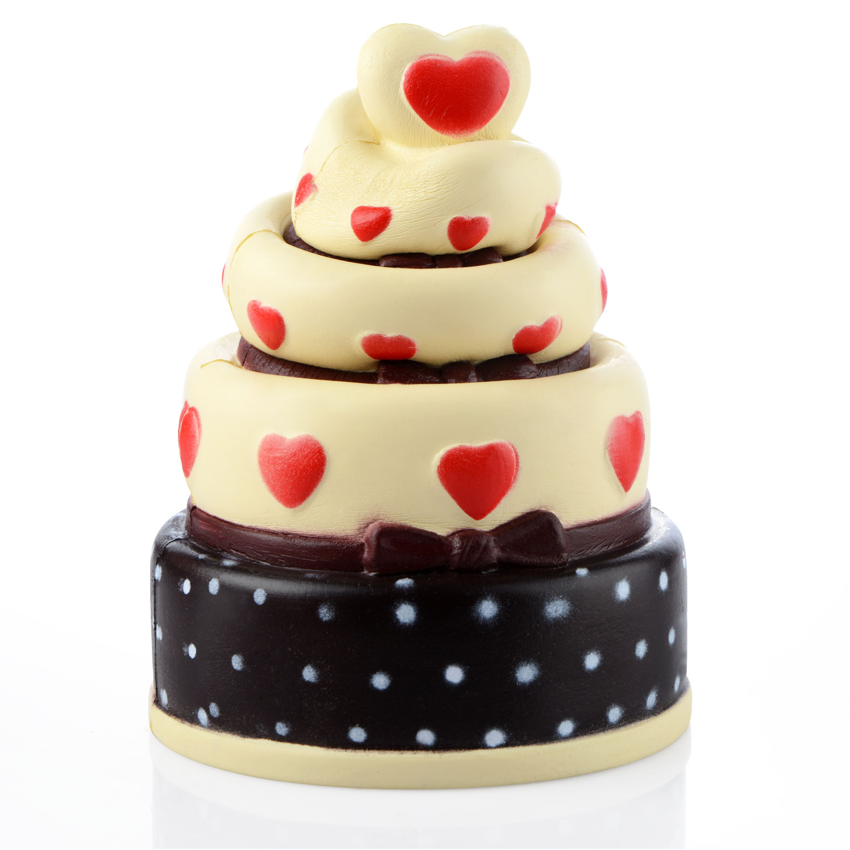Drăguț antistres jucărie 17cm inima tort Squishy încet cremă - Produse noi și jucării umoristice