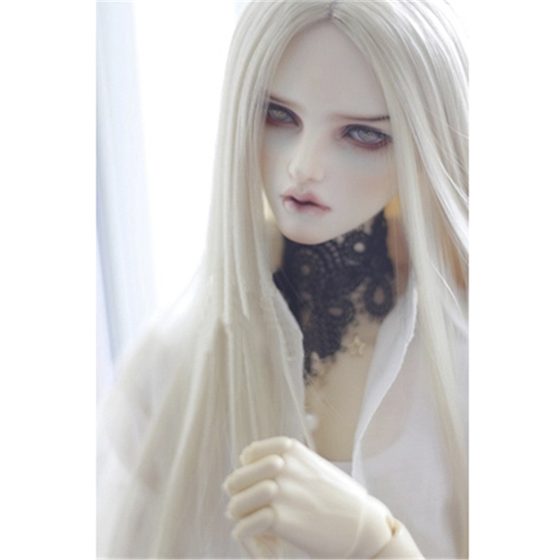Allaosify bjd wig Multicolor Long Straigst Wigs 1/3 1/4 1/6 BJD Wig High Temperature Fiber doll wig free shipping synthetic bjd wig long wavy wig hair for 1 3 24 60cm bjd sd dd luts doll dollfie cut fringe