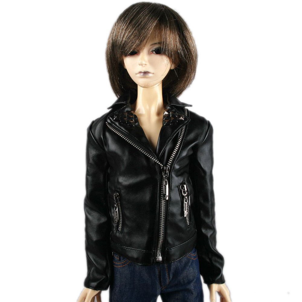 [wamami] 770# Black Leather Jacket Coat 1/3 SD AOD DOD DZ BJD Dollfie купить