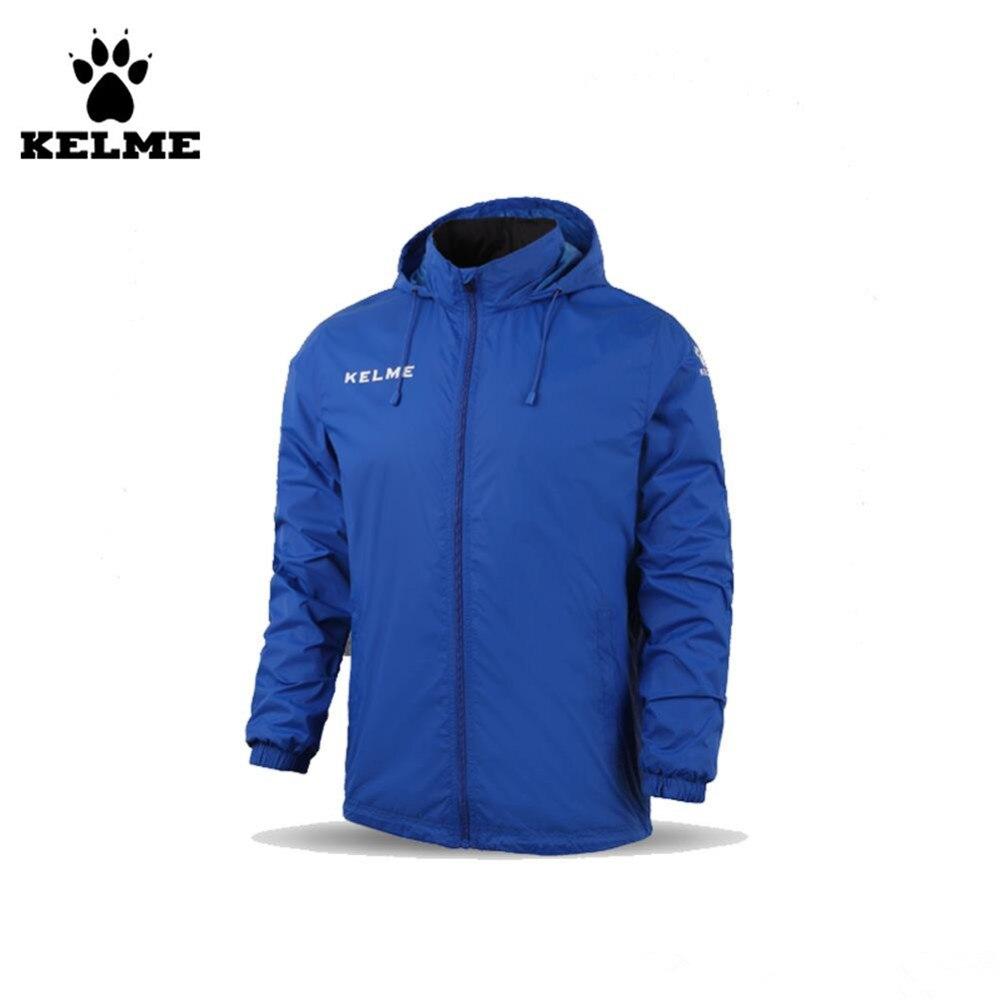 Kelme enfants col montant imperméable imperméables à capuche veste K15S606 bleu