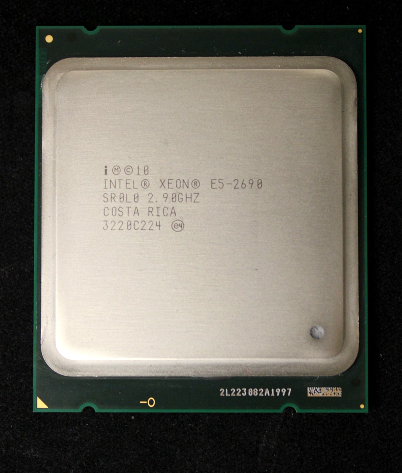 Image 1 - intel Xeon E5 2690 Processor 2.9GHz 20M Cache LGA 2011 SROLO C2 E5 2690 CPU 100% normal work-in CPUs from Computer & Office