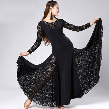 2017 New Ballroom Dance Competition Dresses Stage Costumes For Singers Ballroom Latin Dance Dress Tango/Waltz Dancewear DQ19024