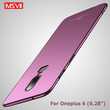 OnePlus 6 กรณี Msvii Slim Frosted Coque สำหรับ ONE PLUS 6 T OnePlus 6 T Hard PC สำหรับ OnePlus6 ONE PLUS 6 T 6 กรณี(China)