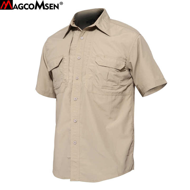 17dc340d85c8 MAGCOMSEN Tactical Shirts Man Summer Short Sleeve Quick Dry Combat Military  Army Shirts Breathable Work Shirts