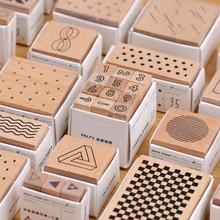 Геометрический куб, цилиндр, волнистый точечный пинстрип, снежный номер, деревянный штамп, скрапбукинг, сделай сам, хобби, планировщик, украшение для ноутбука, 22 узора